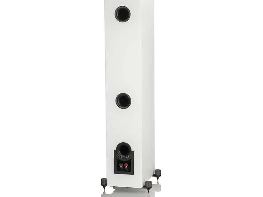 Elac UF5 Slim Satin White Tower Speakers + Elac Debut s12eq