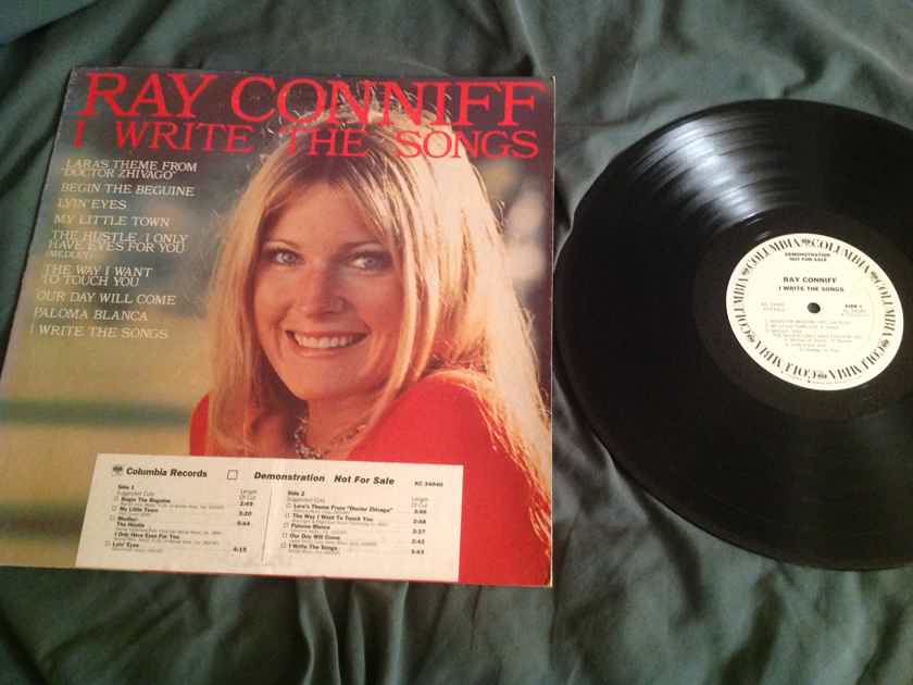 Ray Coniff I Write The Songs Columbia Records White Label Promo LP