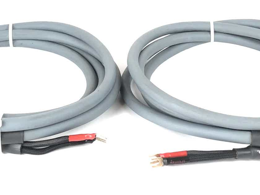 Pair AudioQuest CRYSTAL 2 Hyperlitz 12ft 3.5m Spade Speaker Cables Wires