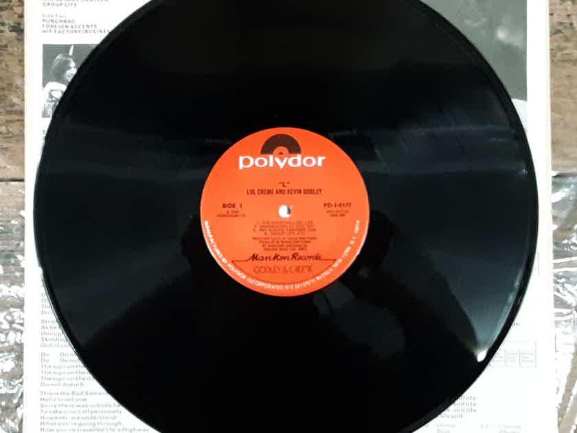 Lol Creme And Kevin Godley - L NM Vinyl LP 1978 MONARCH Pressing Polydor PD-1-6177