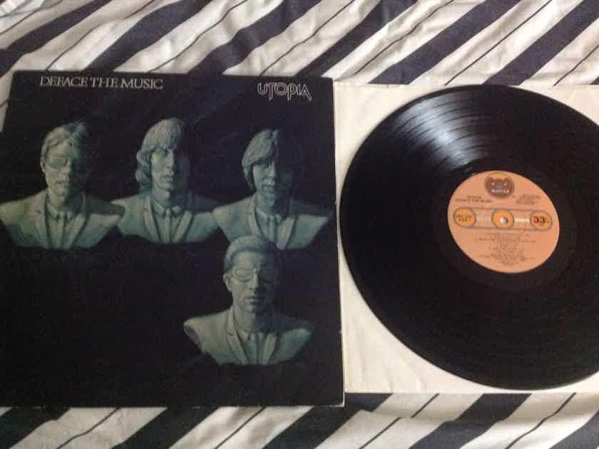 Utopia(Todd Rundgren) - Deface The Music Bearsville Records Promo Stamp Back Cover Vinyl LP NM