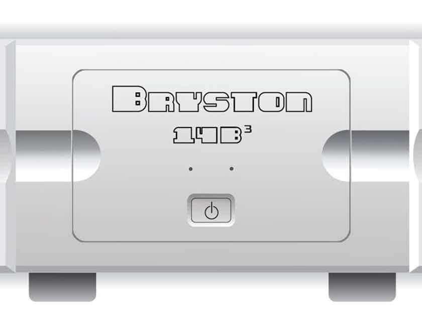 """Bryston 14B-3 (cubed) Silver 19"""""""