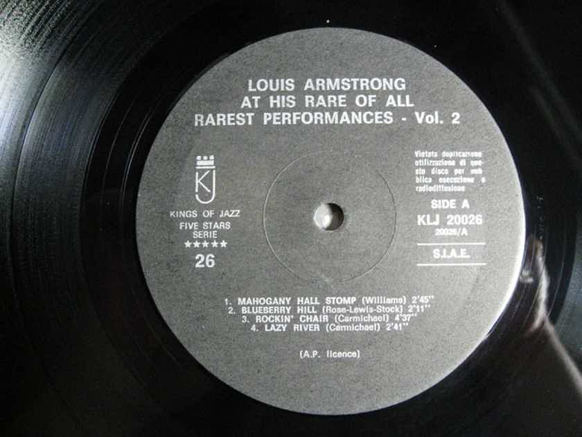 Louis Armstrong - Here Is Louis Armstrong At His Rare Of All Rarest - ITALY 1975 Five Stars Serie 26 / Kings Of Jazz KLJ-20026