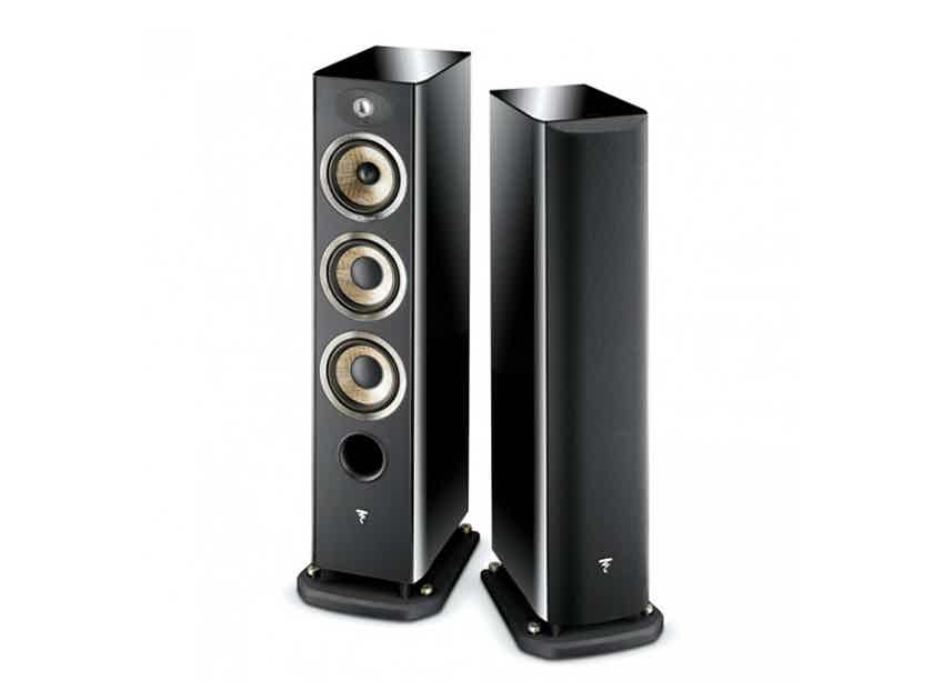 Focal Aria 926 3-Way  Floorstanding Loudspeakers (High Gloss Black): EXCELLENT Demo; Full Warranty; 35% Off; Free Shipping