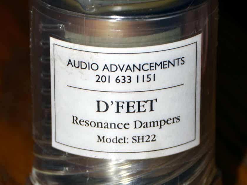 Audio Advancements D'FEET SH22 Resonance Dampers Set of 4 component feet