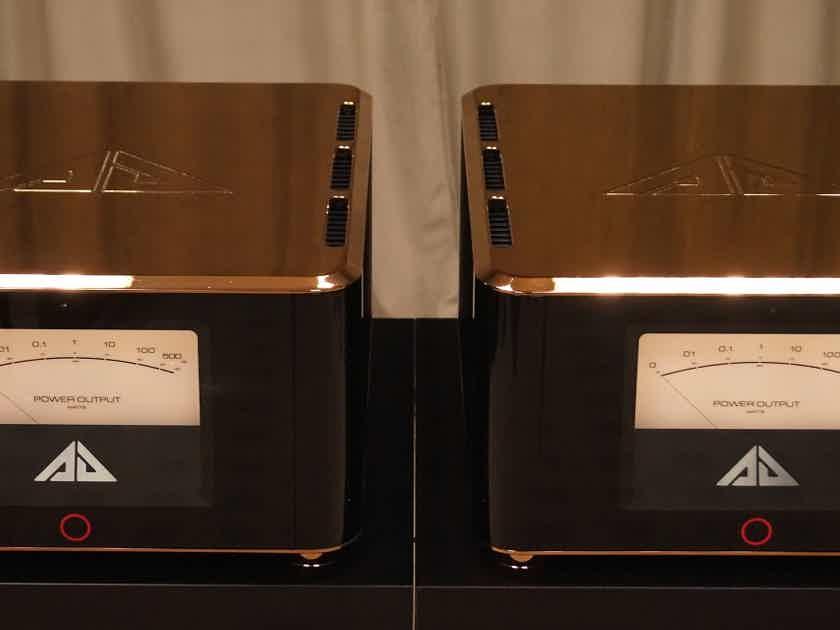 Analog Domain Artemis monoblock amplifier pair, gold
