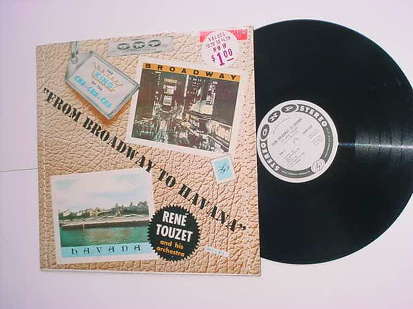 Rene Touzet from broadway to Havana lp record the king of cha cha