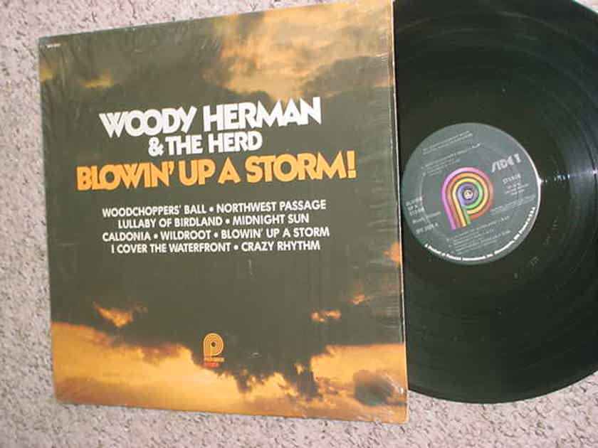 Woody Herman & the herd - blowin up a storm lp record in shrink pickwick SPC-3591 big band jazz 1978