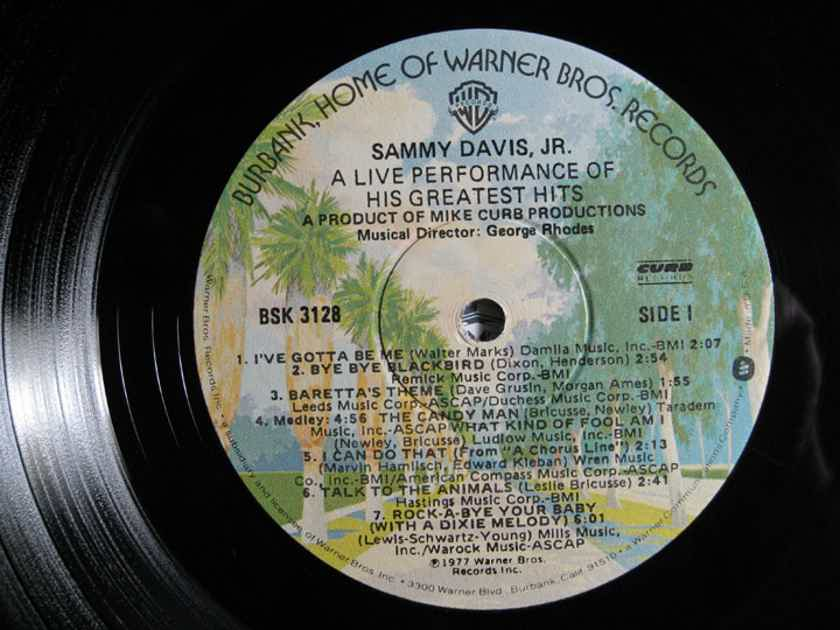 Sammy Davis Jr. - A Live Performance Of His Greatest Hits - 1977  Warner Bros. Records BSK 3128