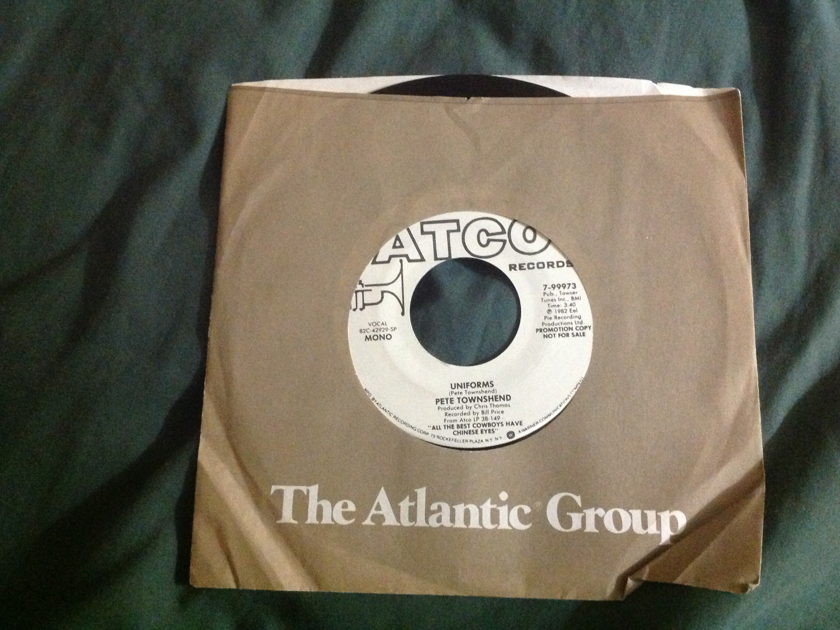 Pete Townshend - Uniforms Promo Mono Stereo 45 NM