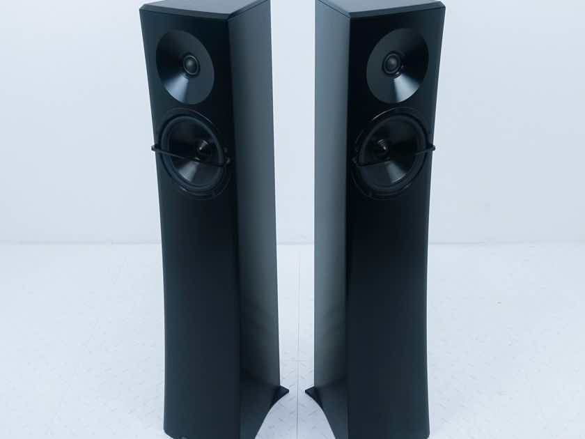 YG Acoustics Carmel 2 Floorstanding Speakers Black Pair (Less than 3 months old) (13290)
