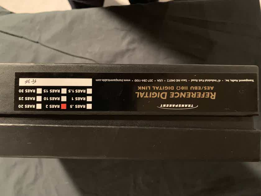 Transparent Audio Reference Digital (RAES2) 110-OHM/2 Meter Cable with Balance Ends - DEMO/WARRANTY