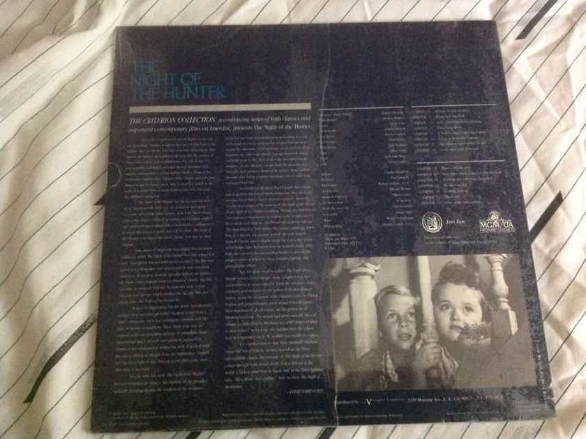 Criterion Collection Sealed Laserdisc  The Night Of The Hunter