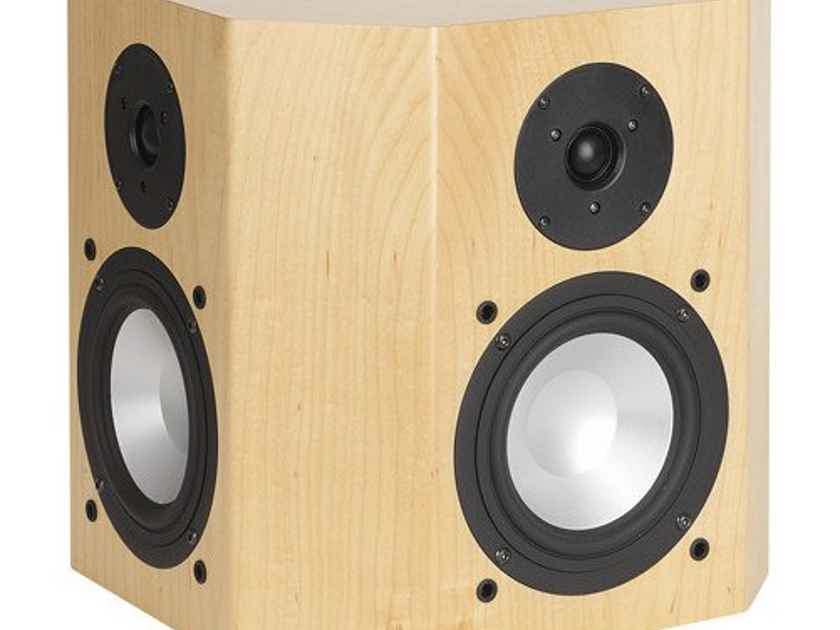 RBH 66-SE On-Wall Surround Speakers White Oak Pair; 66SE (New) (13179)