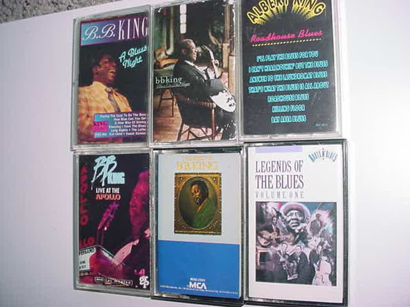 BLUES Mostly BB King  - lot of 6 Audio Cassette tapes 4 BB 1 Albert King 1 legends of blues vol 1