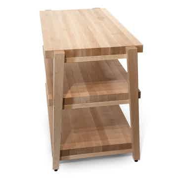 "Butcher Block Acoustics rigidrack™ 30"" X 20"" - 3 Shelf - Maple Shelves - Maple Legs"