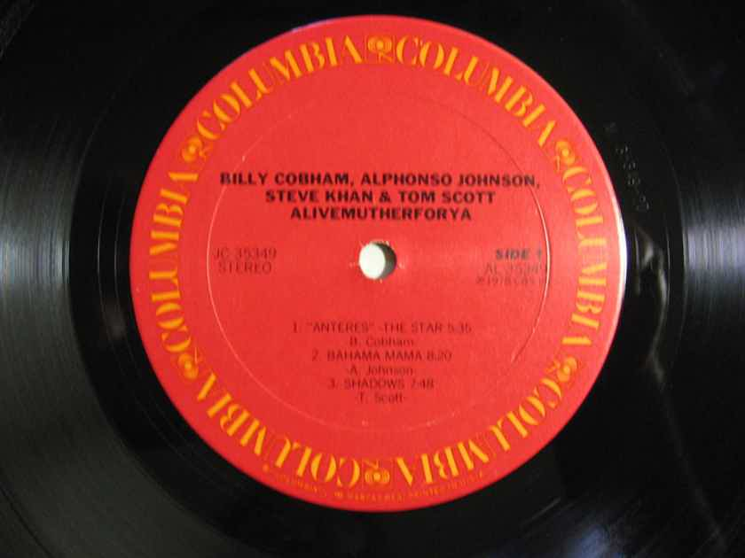 Billy Cobham · Khan · Alphonso Johnson - Scott - Alivemutherforya - 1978 Columbia JC 35349