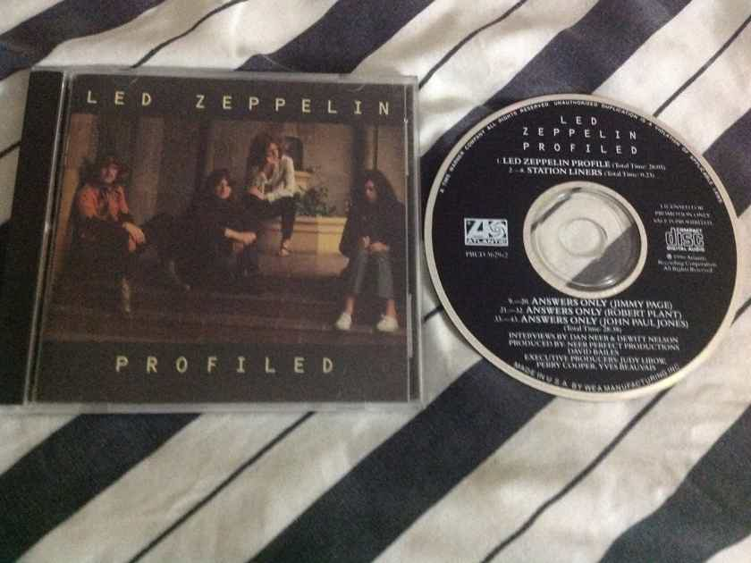 Led Zeppelin - Profiled Atlantic Records Promo Compact Disc