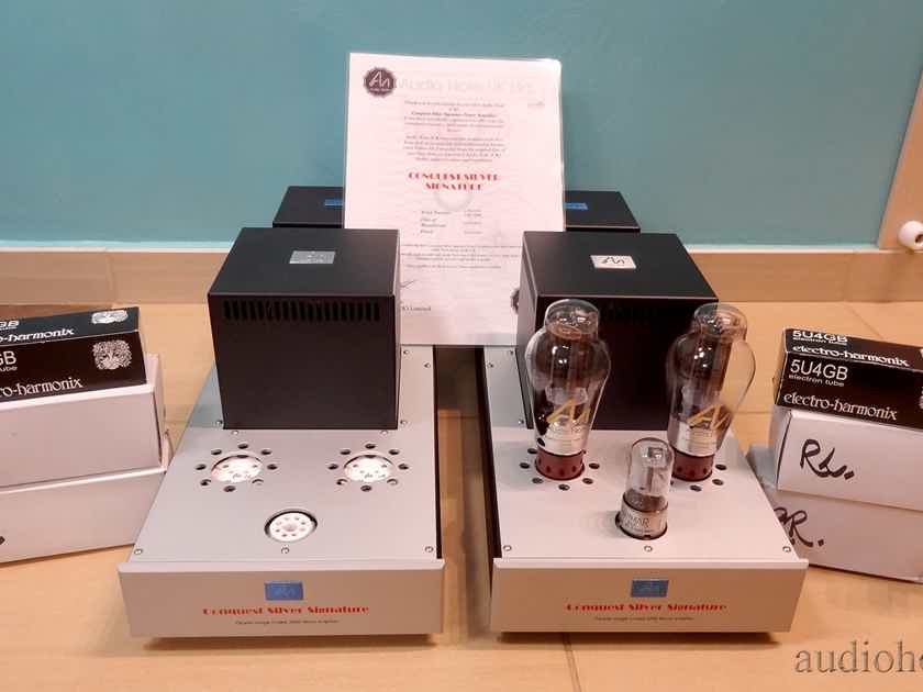 Audio Note Conquest Silver Signature 300B SPECIAL ORDER Monoblock Power Amplifiers NEW in boxes !
