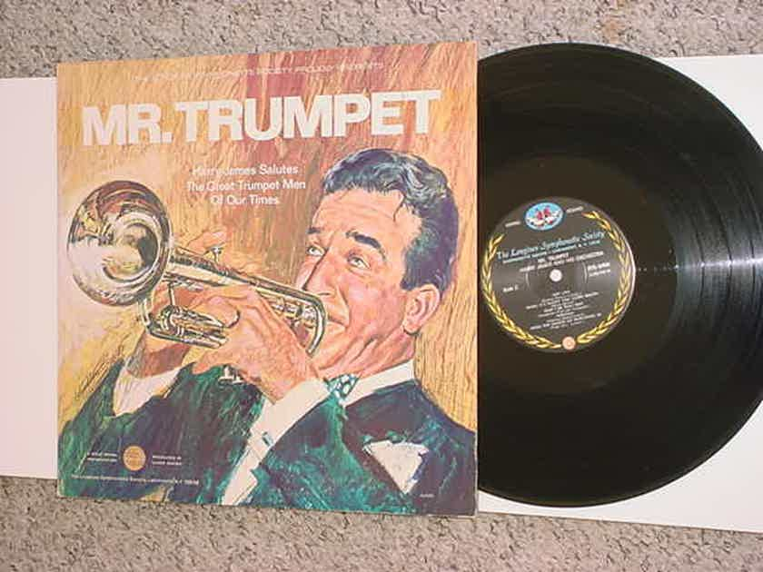 MR Trumpet Harry James - lp record hARRY james salutes the great trumpet men of our times LONGINES