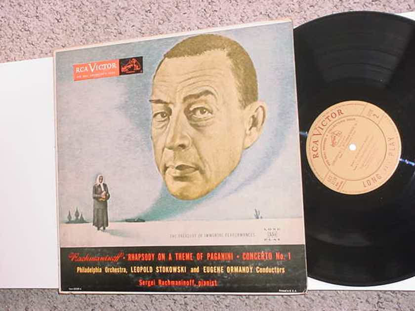Sergi Rachmaninoff Leopold Stokowski lp record Rhapsody on a theme of Paganini concerto no1  SEE ADD