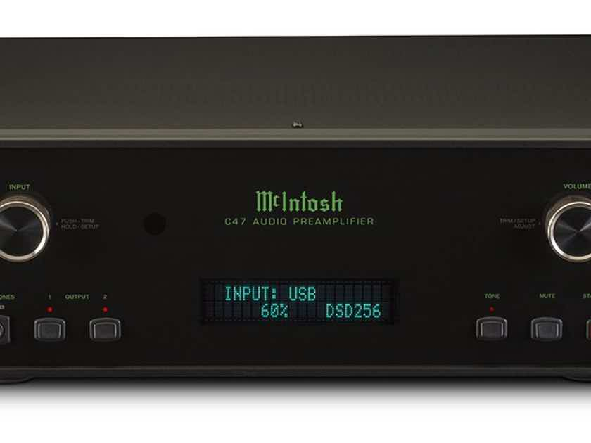 McIntosh C47 Stereo Preamplifier, Factory Refurbished, Sealed-in-Box