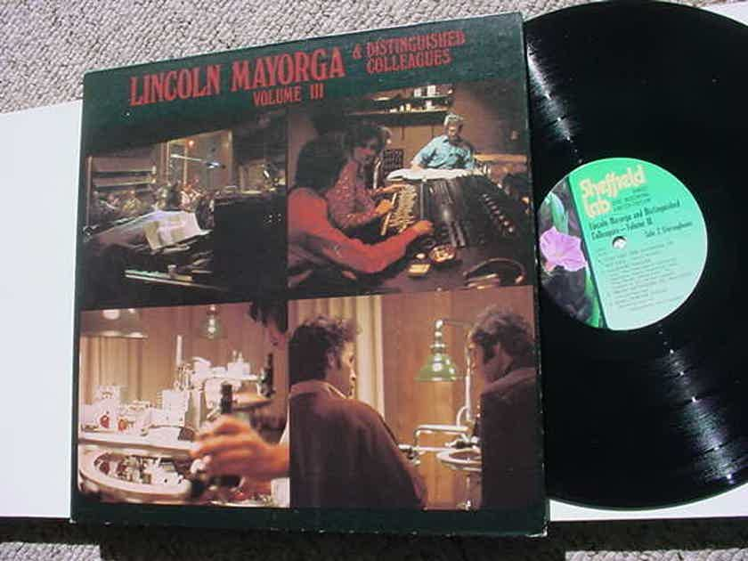 Lincoln Mayorga & Distinguished Colleagues - volume III LP RECORD Sheffield LAB Audiophile direct to disc