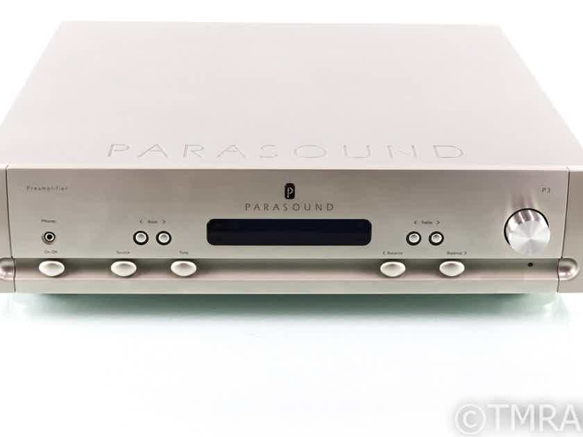 Parasound Halo P3 Stereo Preamplifier; P-3; MM Phono; Remote (28225)