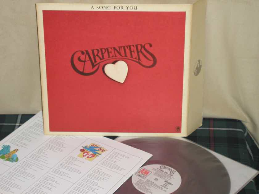 "The Carpenters - A Song For You Promotion WL Promo A&M SP3511 w/""flap cover"""