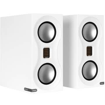 MONITOR AUDIO Studio Bookshelf  Speakers & Stand Combo (White):