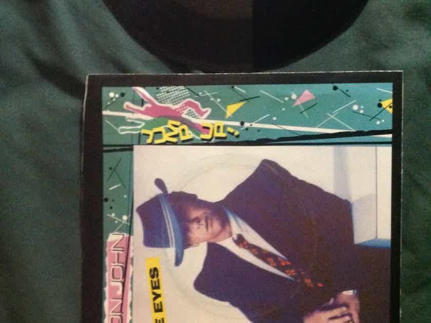 Elton John - Blue Eyes/Hey Papa Legba 45 Single With Picture Sleeve Geffen Records Vinyl NM