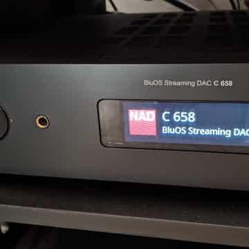 NAD C658 Audio Streamer Direc Live Room Bluos MQA