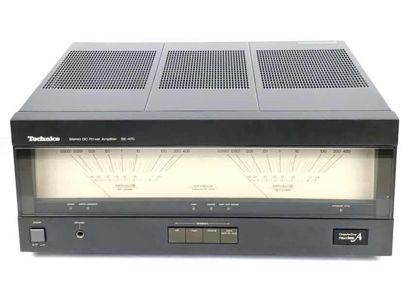 Technics SE A70 DC 2-CH160wpc @ 8-Ohms Stereo Power Amplifier AMP w/ 110/120/220/240 Voltage Selector