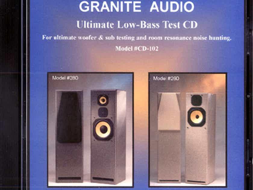 Granite audio cd-102 low bass test cd