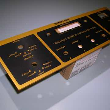 AUDIO RESEARCH SP-3-A GOLD & BLACK FRONT PANEL ONLY