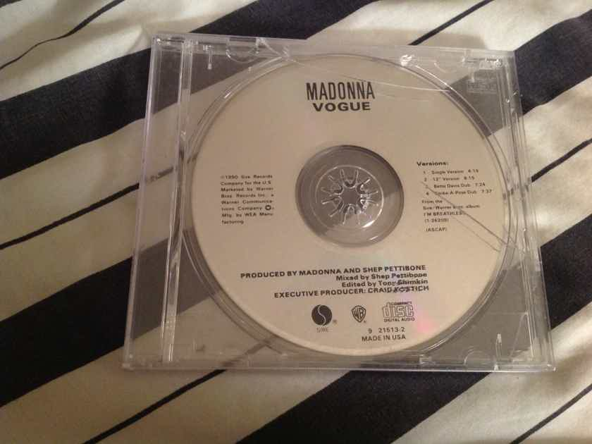Madonna Vogue Compact Disc EP 4 Versions