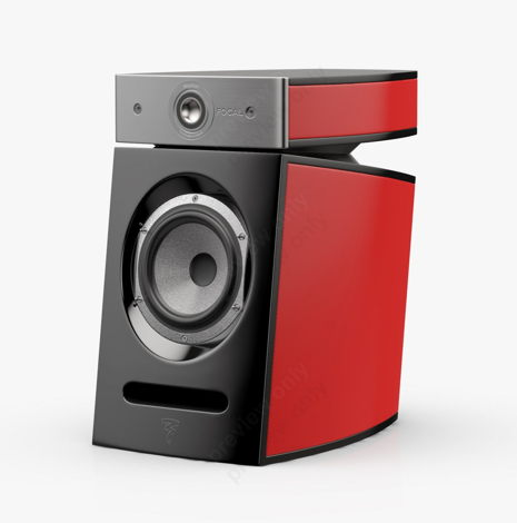 Focal Diablo Utopia III Bookshelf Speakers Imperial Red Lacquer Pair
