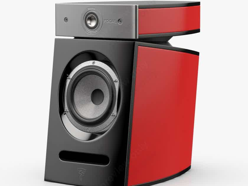 Focal Diablo Utopia III Bookshelf Speakers Imperial Red Lacquer Pair (New) (15710)