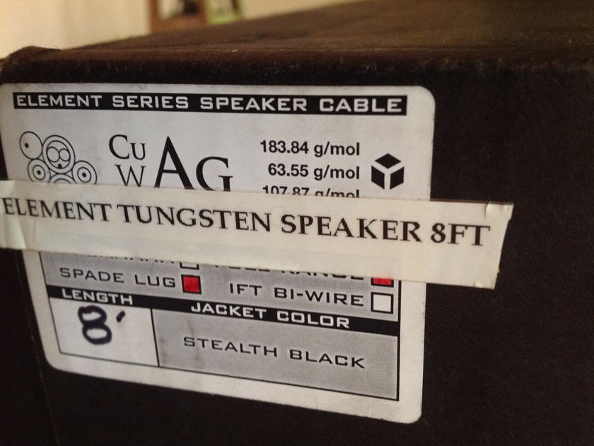 Synergistic Research SR Element Tungsten speaker cables 8' spades