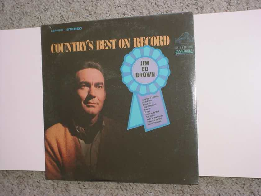 Sealed lp record Jim Ed Brown country's best on record RCA Dynagroove lsp-4011  1968