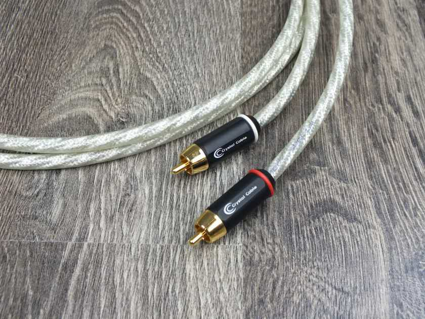Crystal Cable Connect Special Silver Gold audio interconnect cables RCA 1,0 metre (2 pairs available)