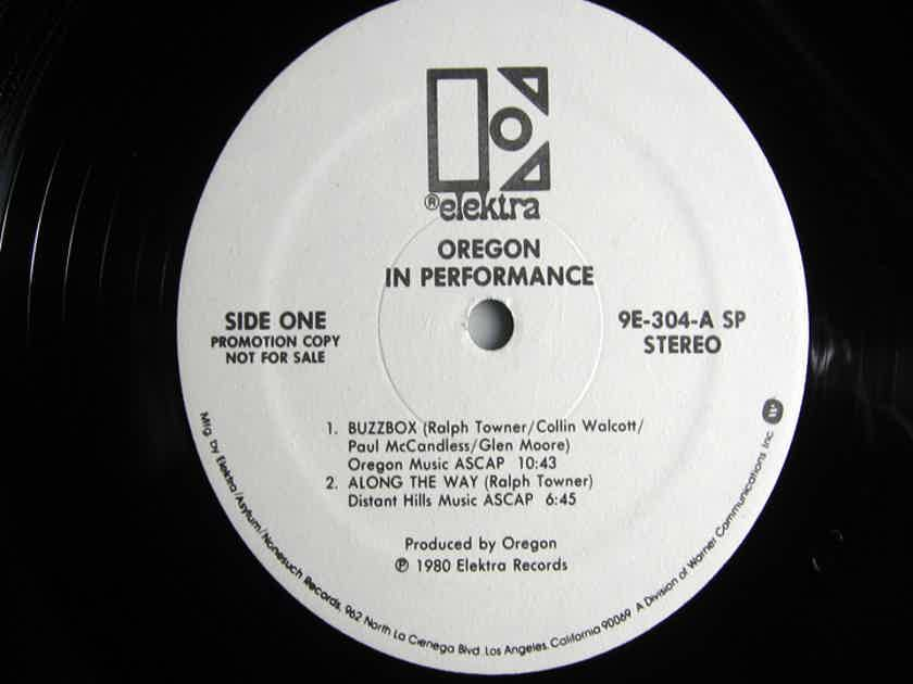 Oregon -  In Performance - White Label Promo - Rob Ludwig Mastered 2X LP 1980 Elektra ‎9E-304