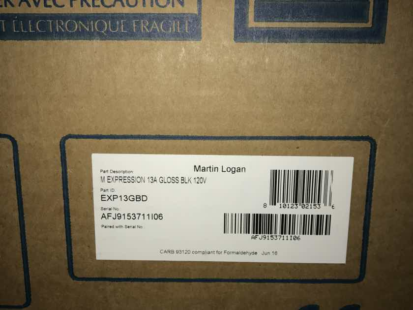 "Martin Logan Expression ESL 13A piano black""NEW MODEL"" trade in"