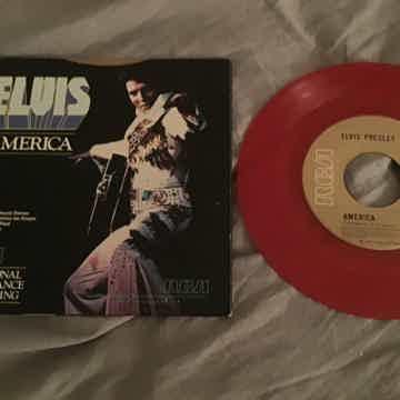 Elvis Presley  My Way/America Red Vinyl 45 With Picture...