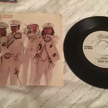 Cheap Trick Voices Promo 45 With Picture Sleeve Vinyl NM