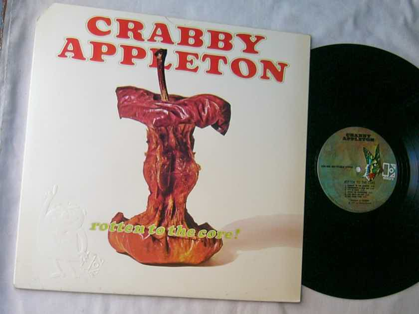 CRABBY APPLETON - - ROTTEN TO THE CORE - RARE 1971 BLUES ROCK LP - WITH POSTER - ELEKTRA