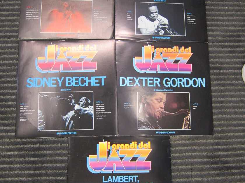 5 RCA Italian Quality Jazz Records, Inserts, Pictures, Ex Quality, Sound + Condition