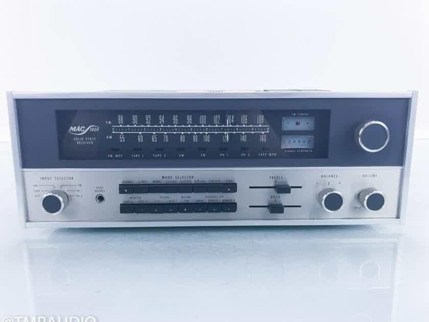 McIntosh MAC1900 Vintage Stereo Receiver MAC-1900; MM Phono (16150)