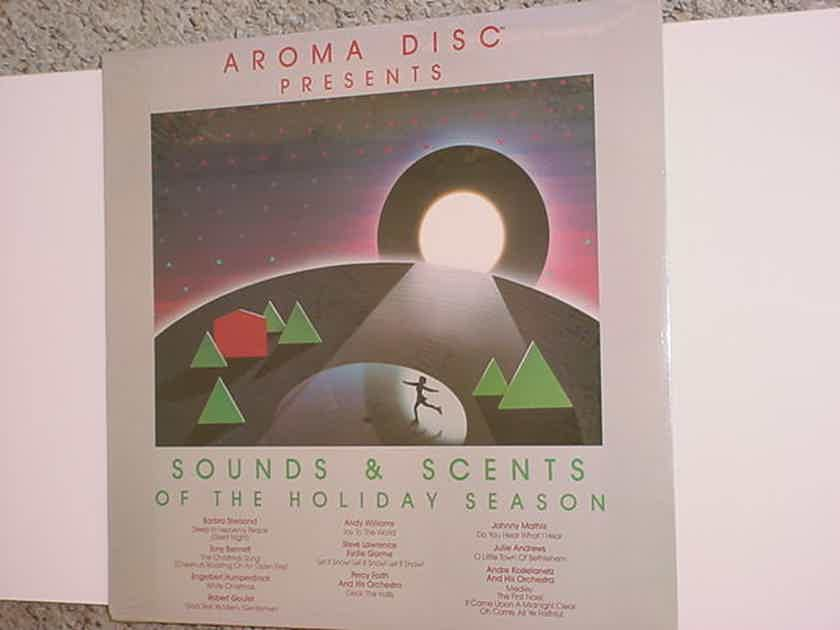 SEALED Aroma Disc presents - sounds & scents of the holiday season  lp record 1984 CBS Inc