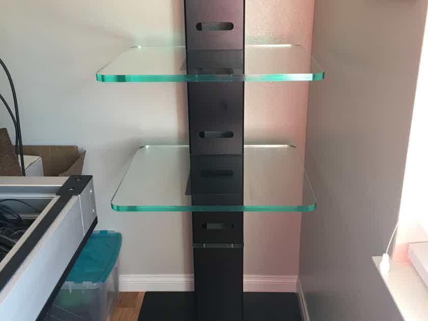 McIntosh 2 Tier Acrylic Rack Stand with Metal Base - Rare Design! MC-275, Phono Pre & Turntable